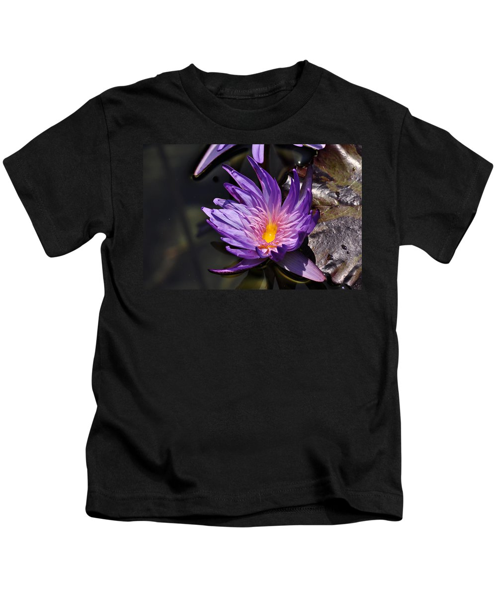 Clay Kids T-Shirt featuring the photograph Water Floral by Clayton Bruster