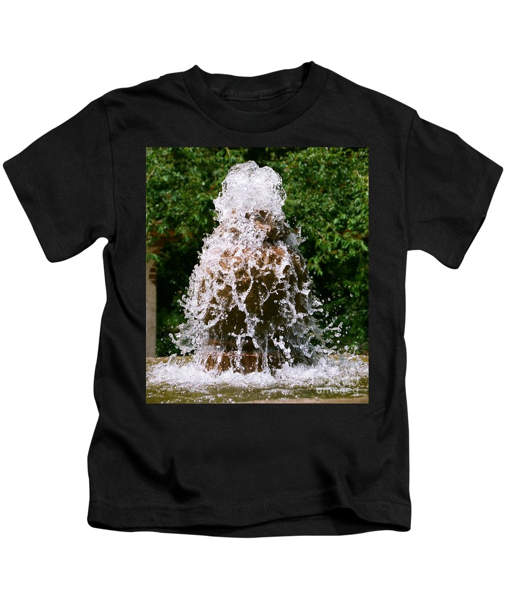 Water Kids T-Shirt featuring the photograph Water Fountain by Dean Triolo