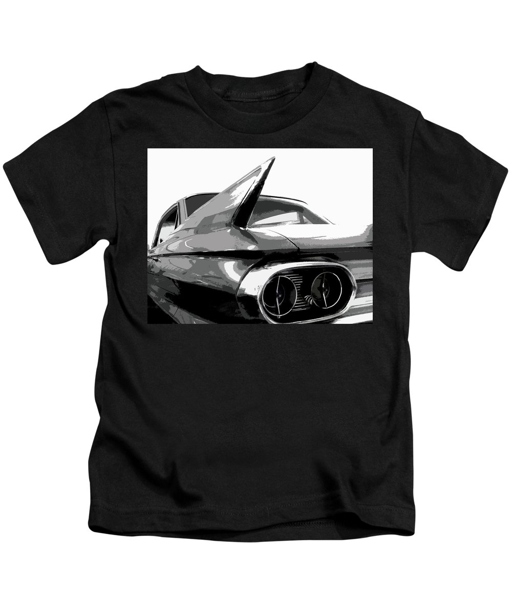 Cadillac Kids T-Shirt featuring the photograph When Fins Were Fashionable by Dick Goodman