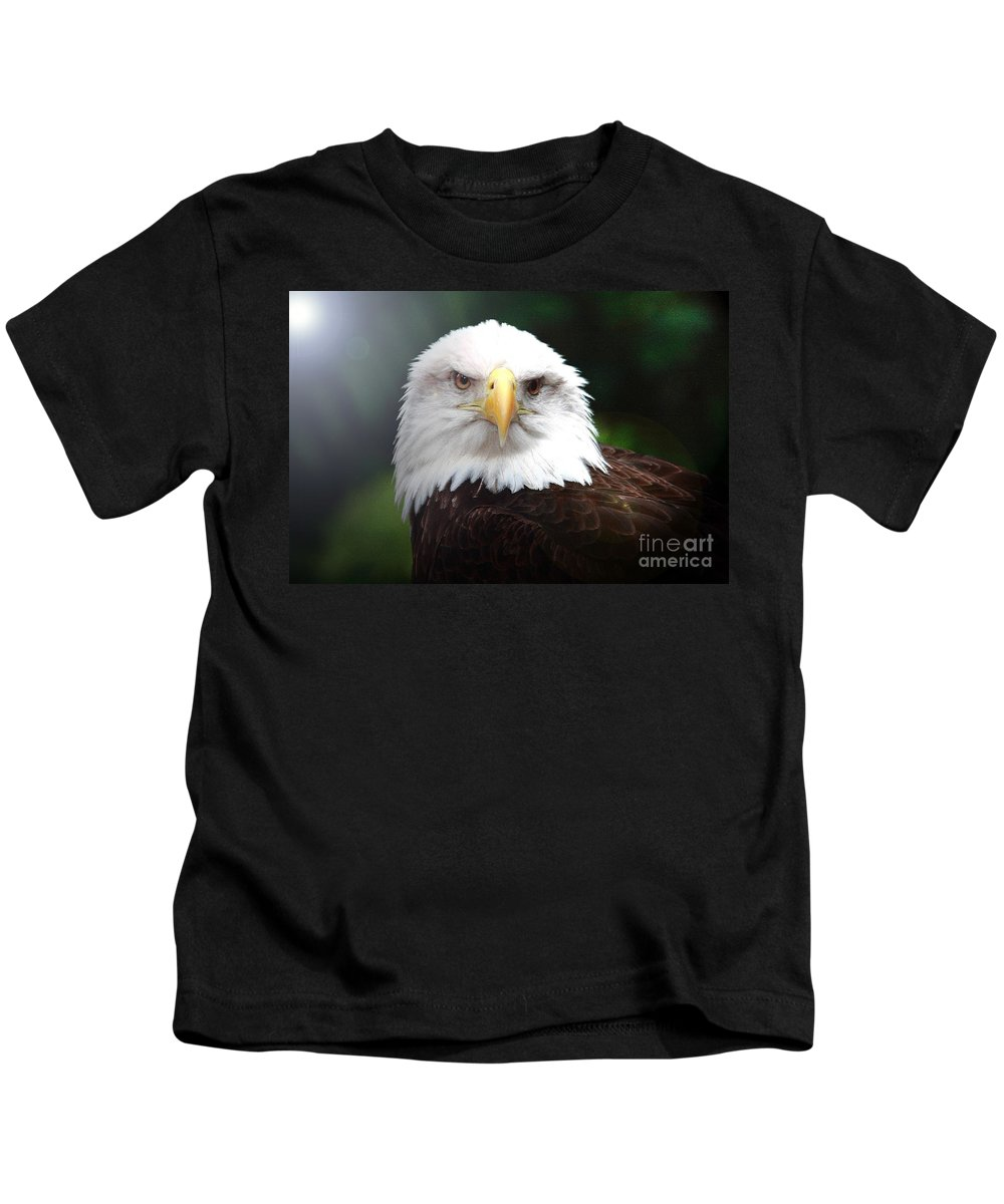 Bird Kids T-Shirt featuring the photograph Where Eagles Dare 4 by Randy Matthews