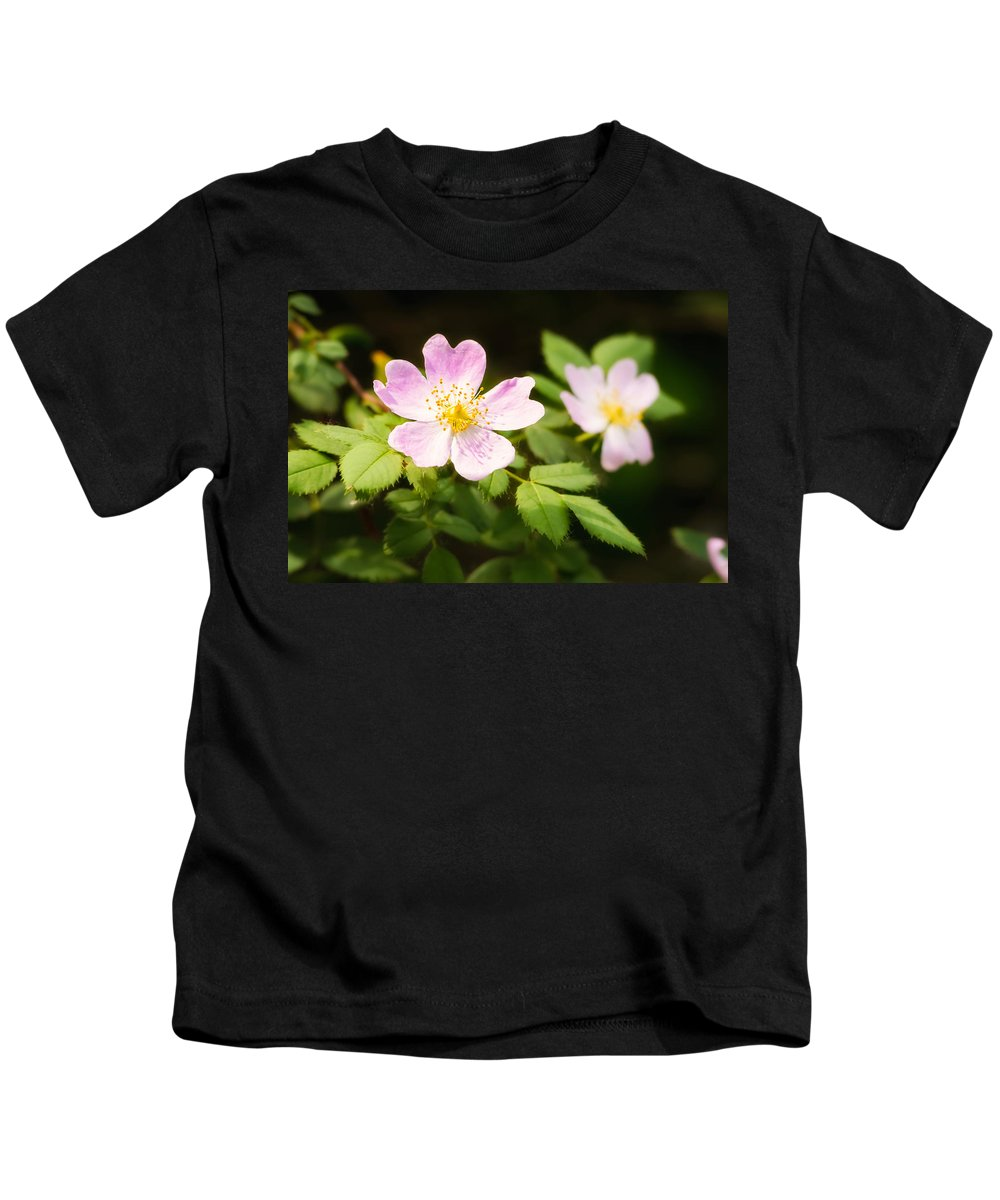 Beautiful Kids T-Shirt featuring the photograph Wild Pink Eglantine by Alain De Maximy