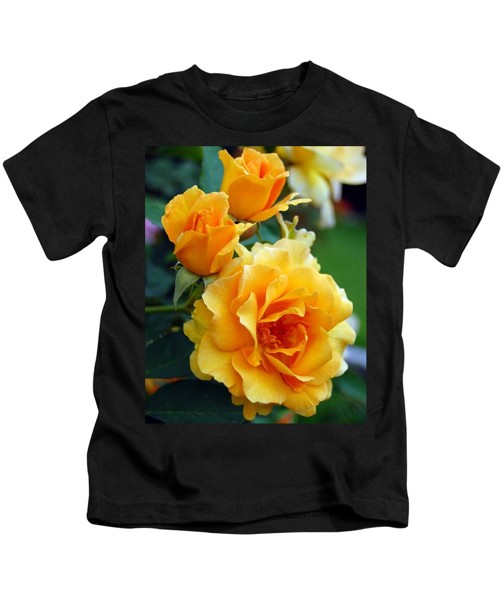 Flower Kids T-Shirt featuring the photograph Yellow Roses by Amy Fose