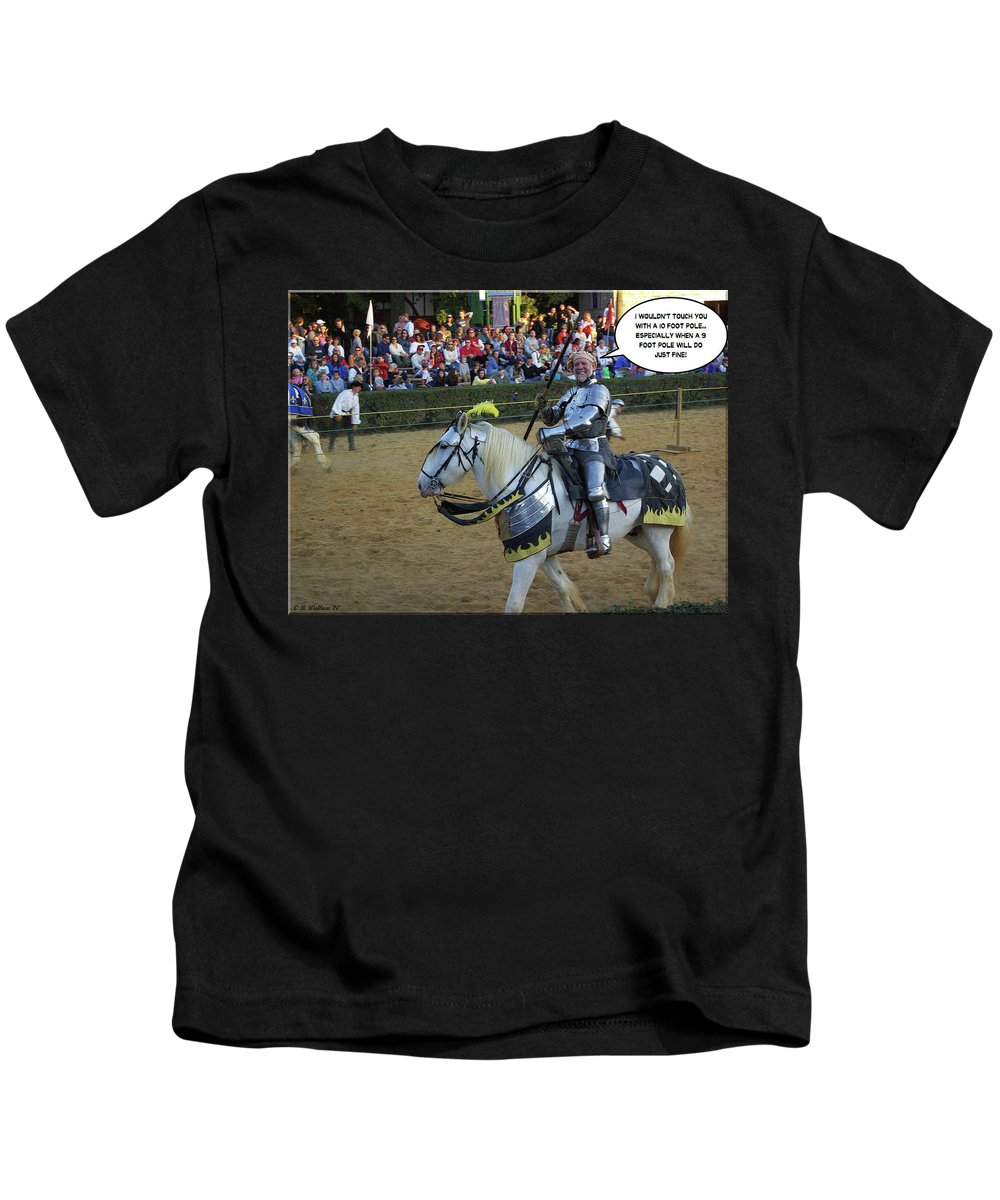 2d Kids T-Shirt featuring the photograph 10 Foot Pole by Brian Wallace