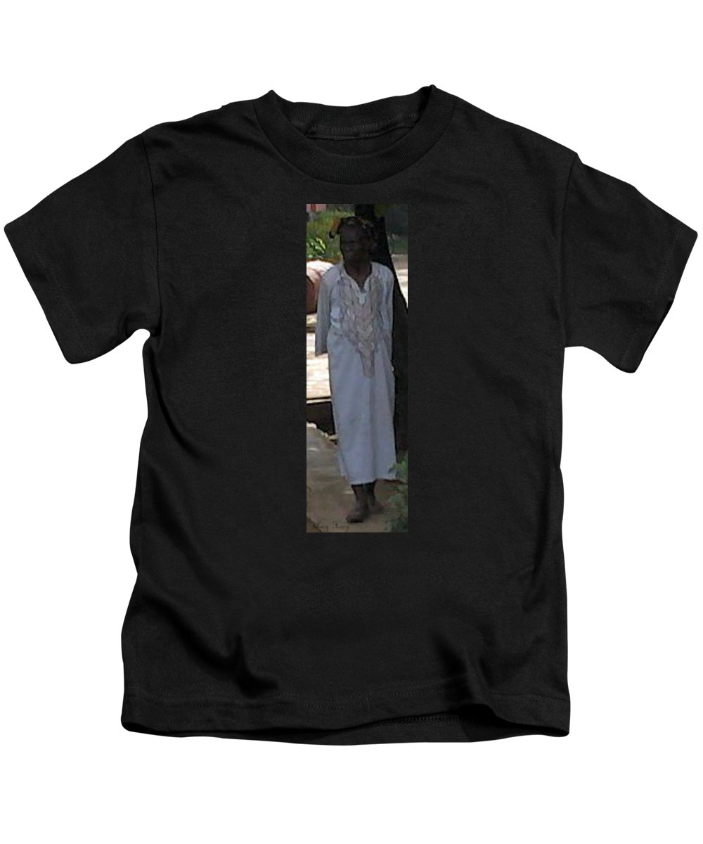 Nigerian Kids T-Shirt featuring the photograph 108 Year Old Nigerian Woman by Amy Hosp