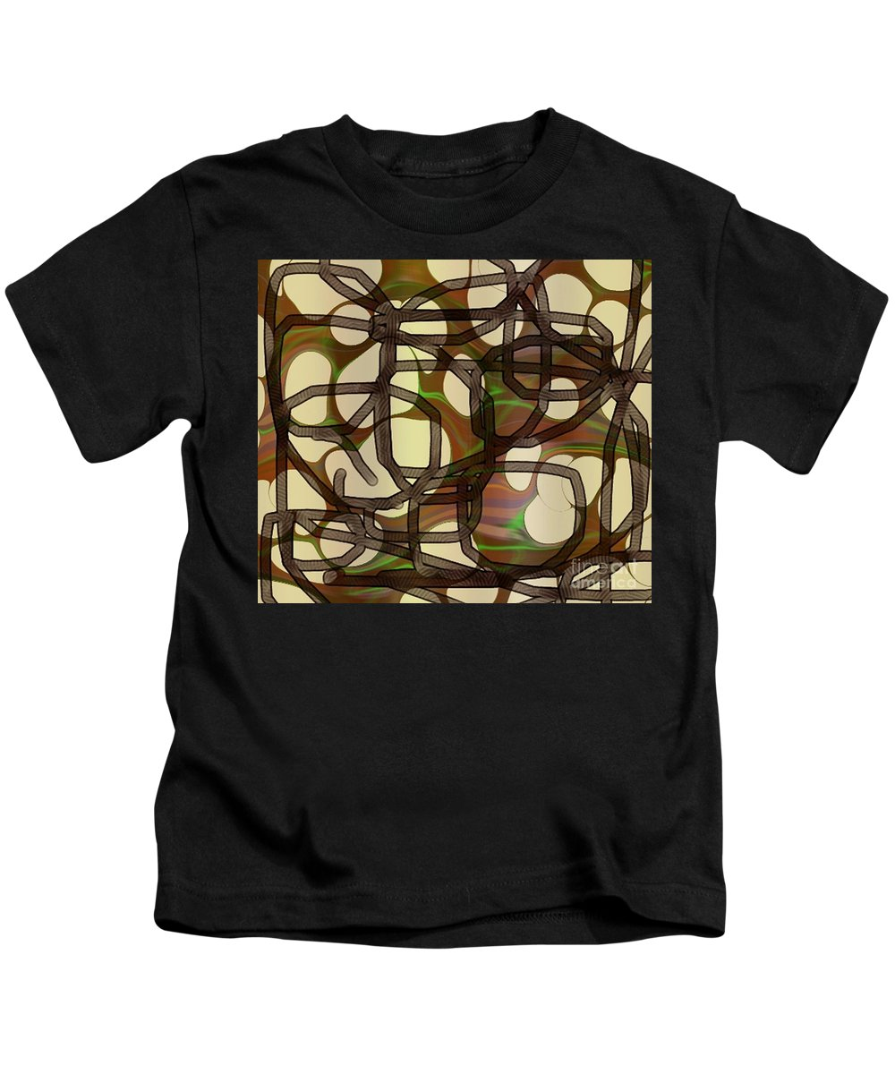 Abstract Art Kids T-Shirt featuring the digital art 1197exp3 by Ron Bissett