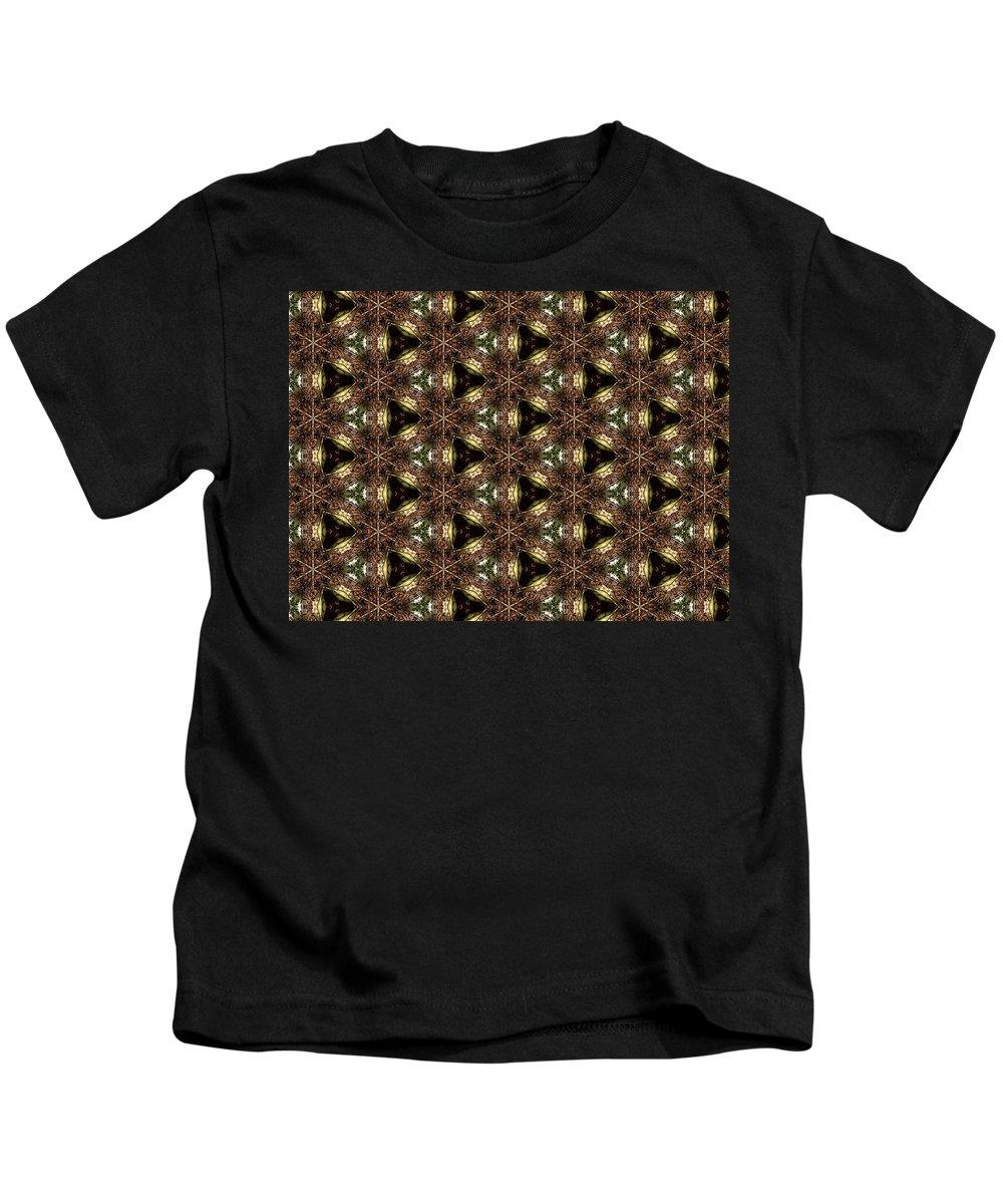 Marjan Mencin Kids T-Shirt featuring the digital art Arabesque 042 by Marjan Mencin