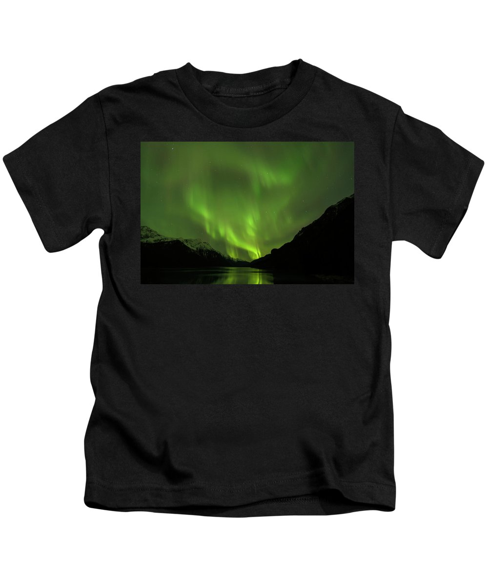 Alaska 2015 Kids T-Shirt featuring the photograph Aurora Borealis by Donald Trimble