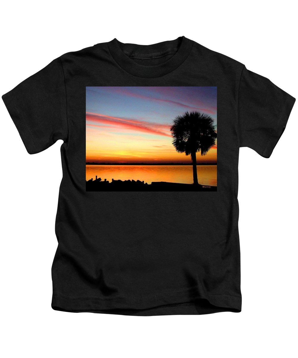 Wgilroy Kids T-Shirt featuring the photograph Sunrise / Sunset / Indian River by W Gilroy