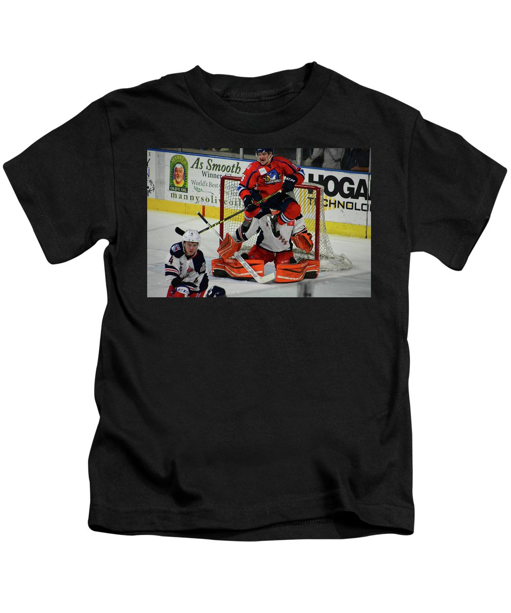 Sports Kids T-Shirt featuring the photograph 16 Matt Buckley by Mike Martin