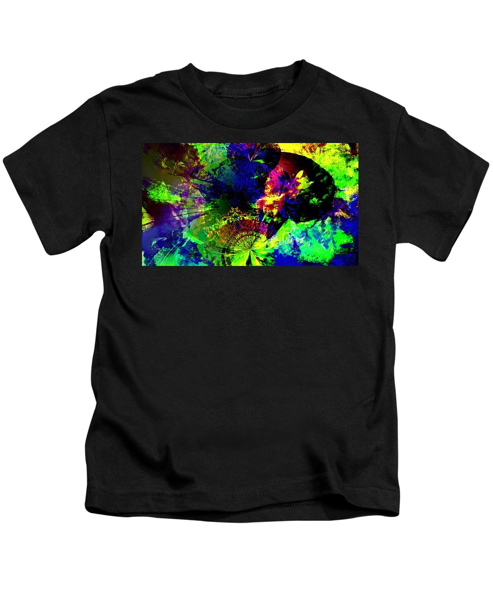Abstract Urban Art Kids T-Shirt featuring the digital art Abstract by Galeria Trompiz