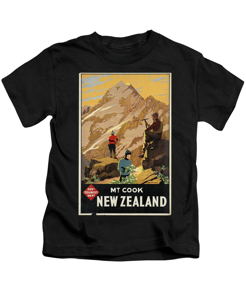 Public-domain-images-free-vintage-posters-0183 Kids T-Shirt featuring the painting Public Domain Images by MotionAge Designs