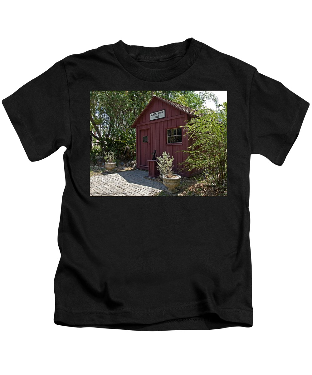 Little Kids T-Shirt featuring the photograph 1883 Little Red Schoolhouse by Allan Hughes