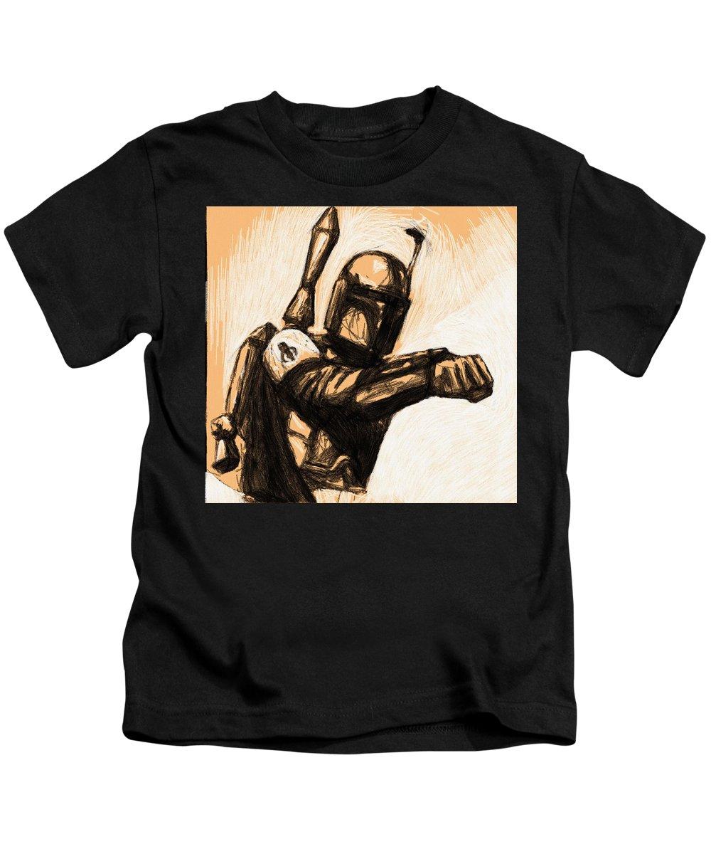 Star Wars Kids T-Shirt featuring the digital art Collection Star Wars Art by Larry Jones
