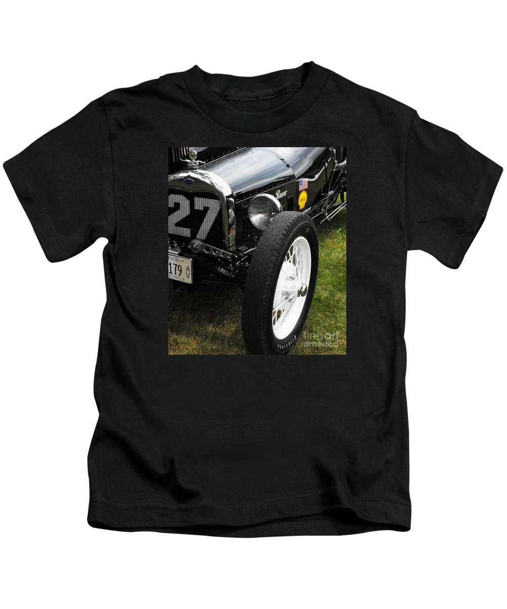 Ford Kids T-Shirt featuring the photograph 1920-1930 Ford Racer by Neil Zimmerman