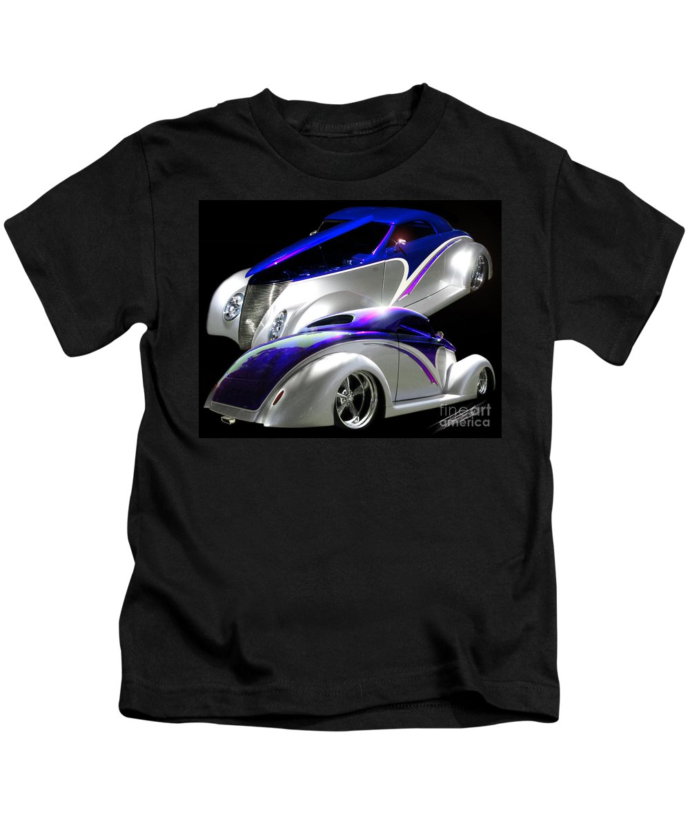 1937 Ford Coupe Kids T-Shirt featuring the photograph 1937 Striped Coupe by Peter Piatt