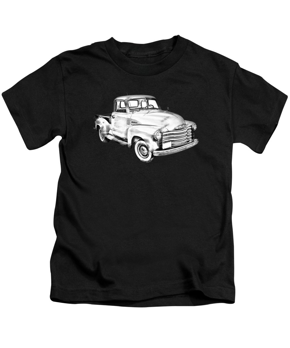 Chevrolet Kids T-Shirt featuring the photograph 1947 Chevrolet Thriftmaster Pickup Illustration by Keith Webber Jr