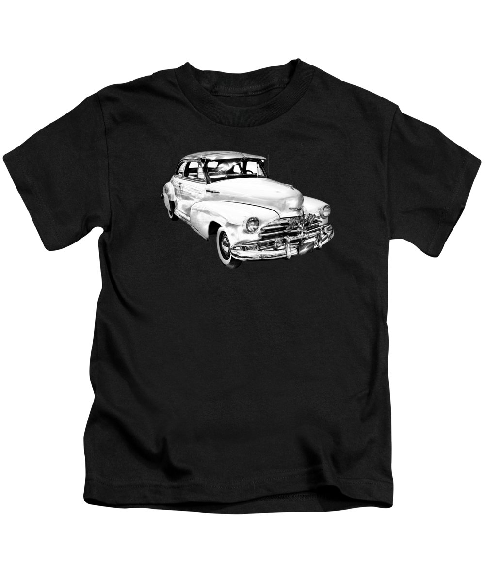 Car Kids T-Shirt featuring the photograph 1948 Chevrolet Fleetmaster Antique Car Illustration by Keith Webber Jr