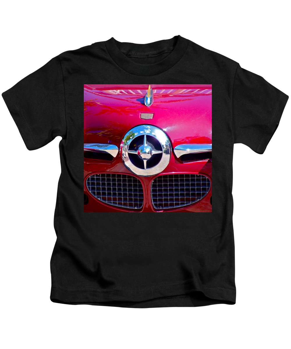 1950 Kids T-Shirt featuring the photograph 1950 Studebaker Champion by Karon Melillo DeVega
