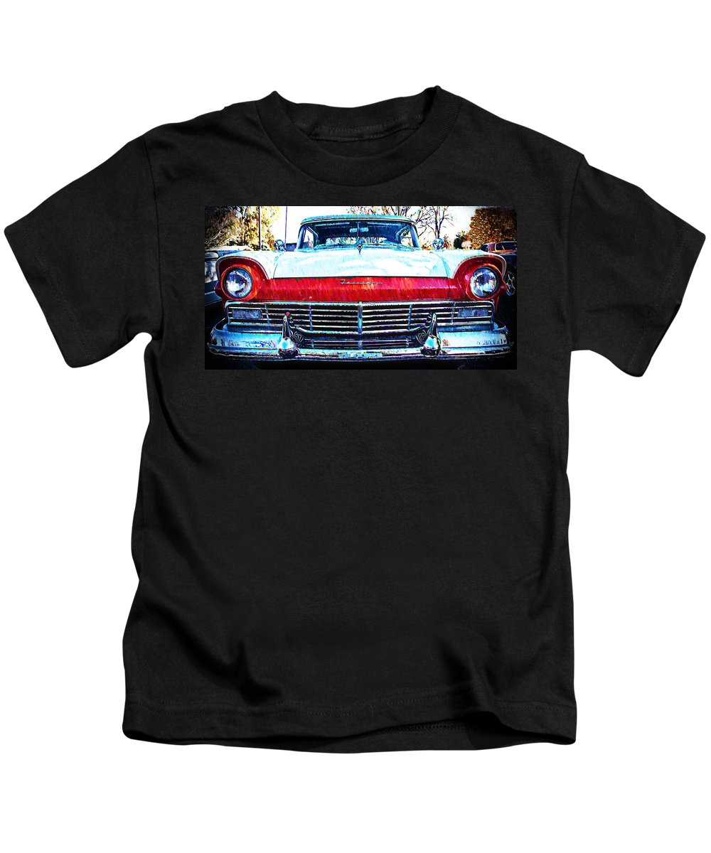 1957 Kids T-Shirt featuring the photograph 1957 Ford Fairlane by Bill Cannon