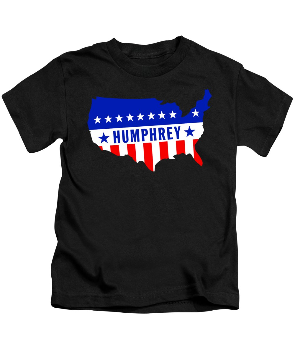 Historicimage Kids T-Shirt featuring the painting 1968 Vote Humphrey For President by Historic Image