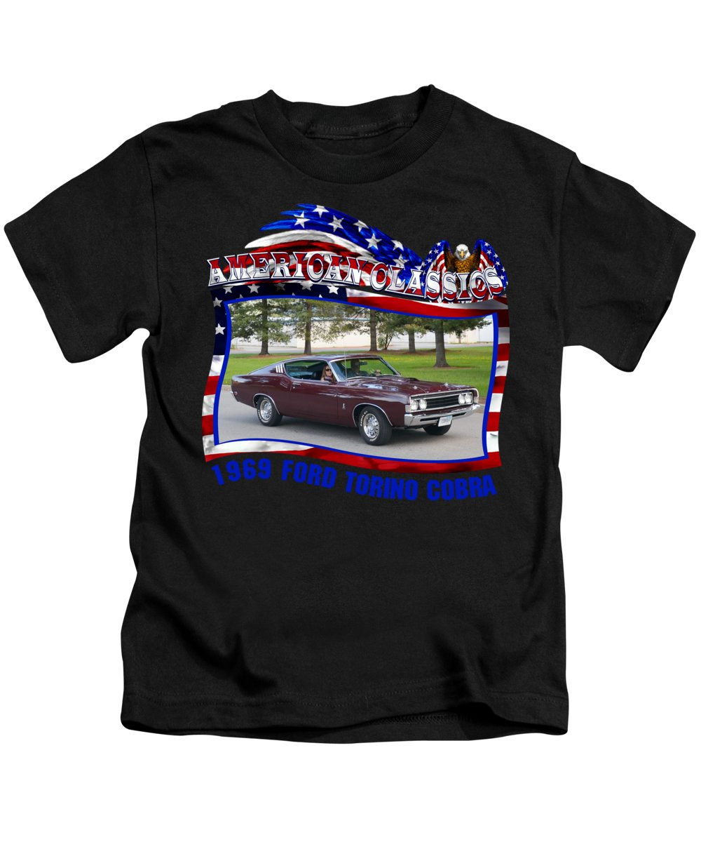Ford Torino Cobra Hereford Kids TShirt For Sale By Mobile - Car show t shirts for sale