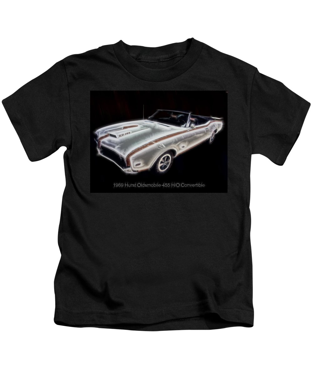 Electric Images Kids T-Shirt featuring the digital art 1969 Hurst Oldsmobile 455 Ho Electric by Chris Flees