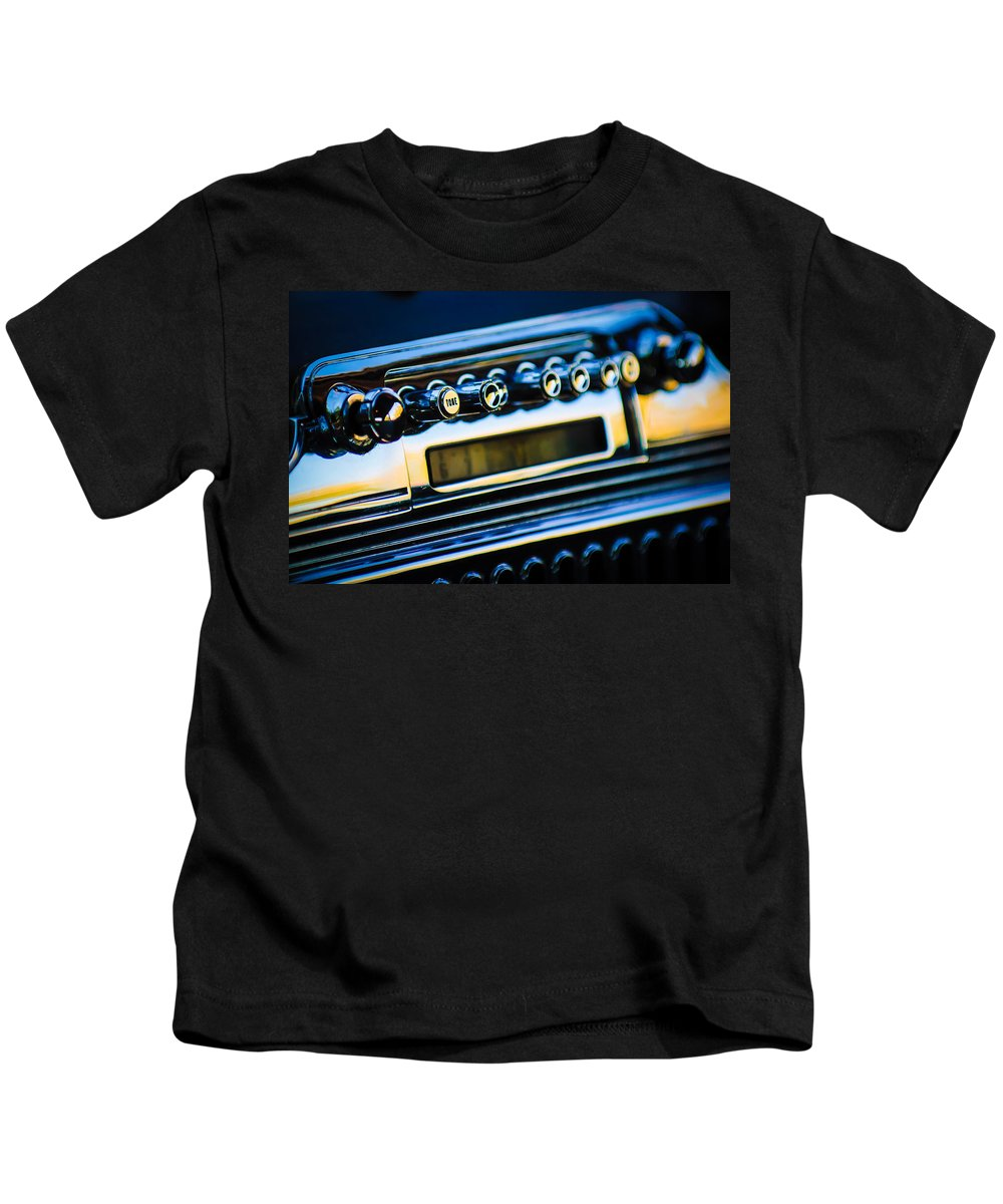 1947 Cadillac Model 62 Coupe Radio Kids T-Shirt featuring the photograph 1947 Cadillac Model 62 Coupe Radio by Jill Reger