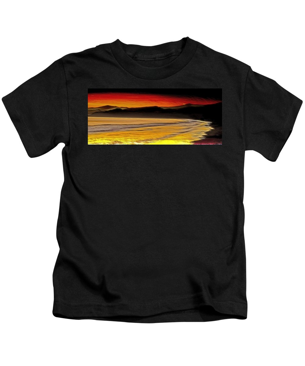 Beach Kids T-Shirt featuring the photograph Caribbean Sea by Galeria Trompiz