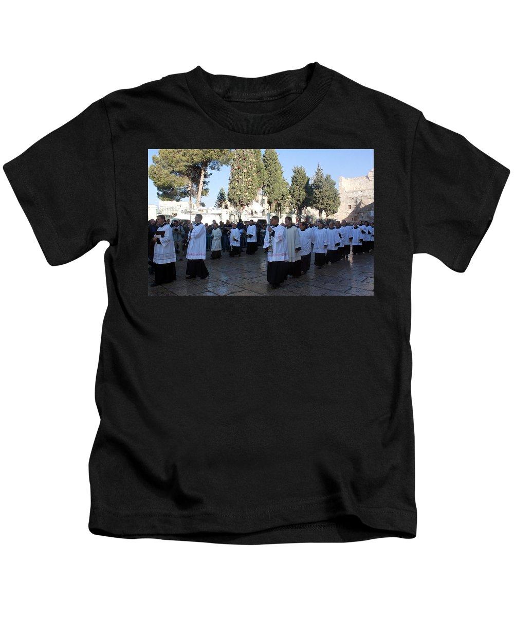 Christmas Kids T-Shirt featuring the photograph Christmas Celebration by Munir Alawi