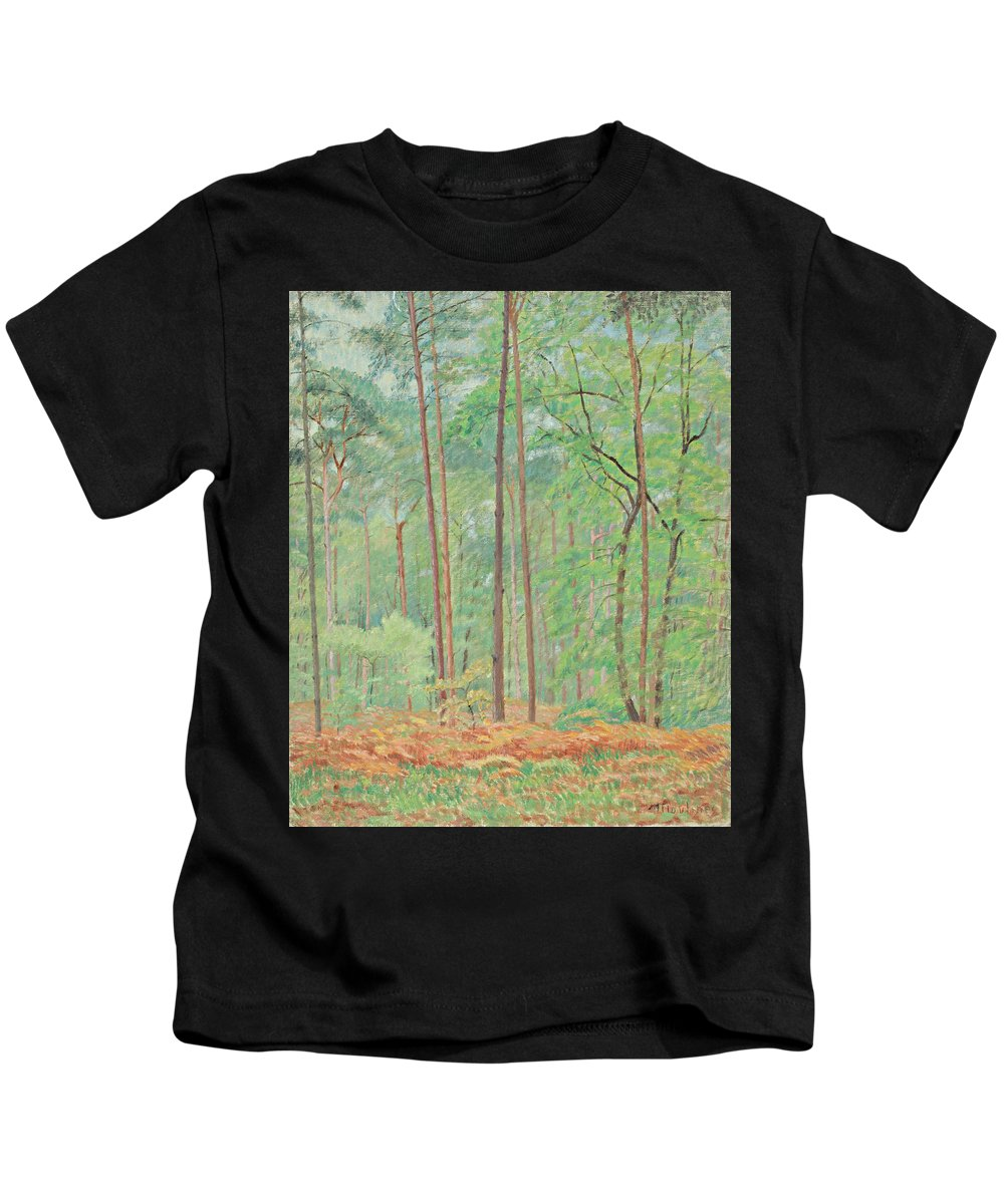 Clearing By Ernest Moulines Kids T-Shirt featuring the painting Clearing by Ernest Moulines