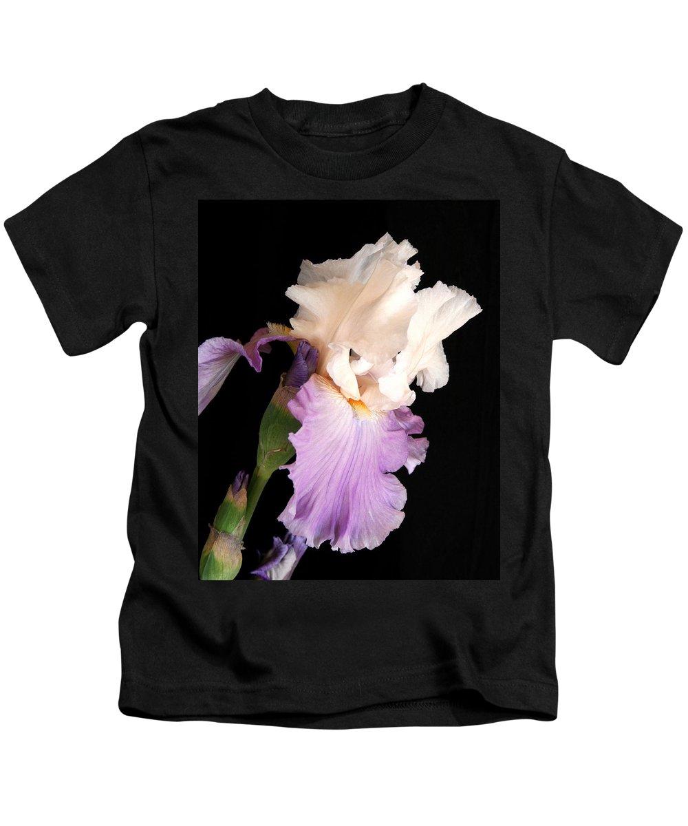 Iris Kids T-Shirt featuring the photograph Iris by Marna Edwards Flavell