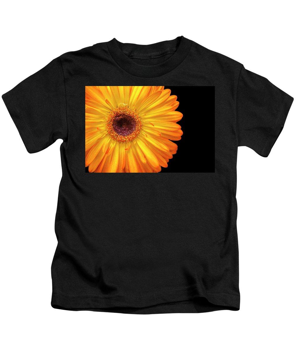 Flower Kids T-Shirt featuring the photograph Macro Shot Of Flower by Karen Neimeier