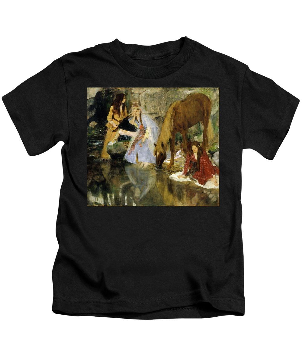 Ballet Kids T-Shirt featuring the painting Portrait Of Mlle Fiocre In The Ballet by Edgar Degas