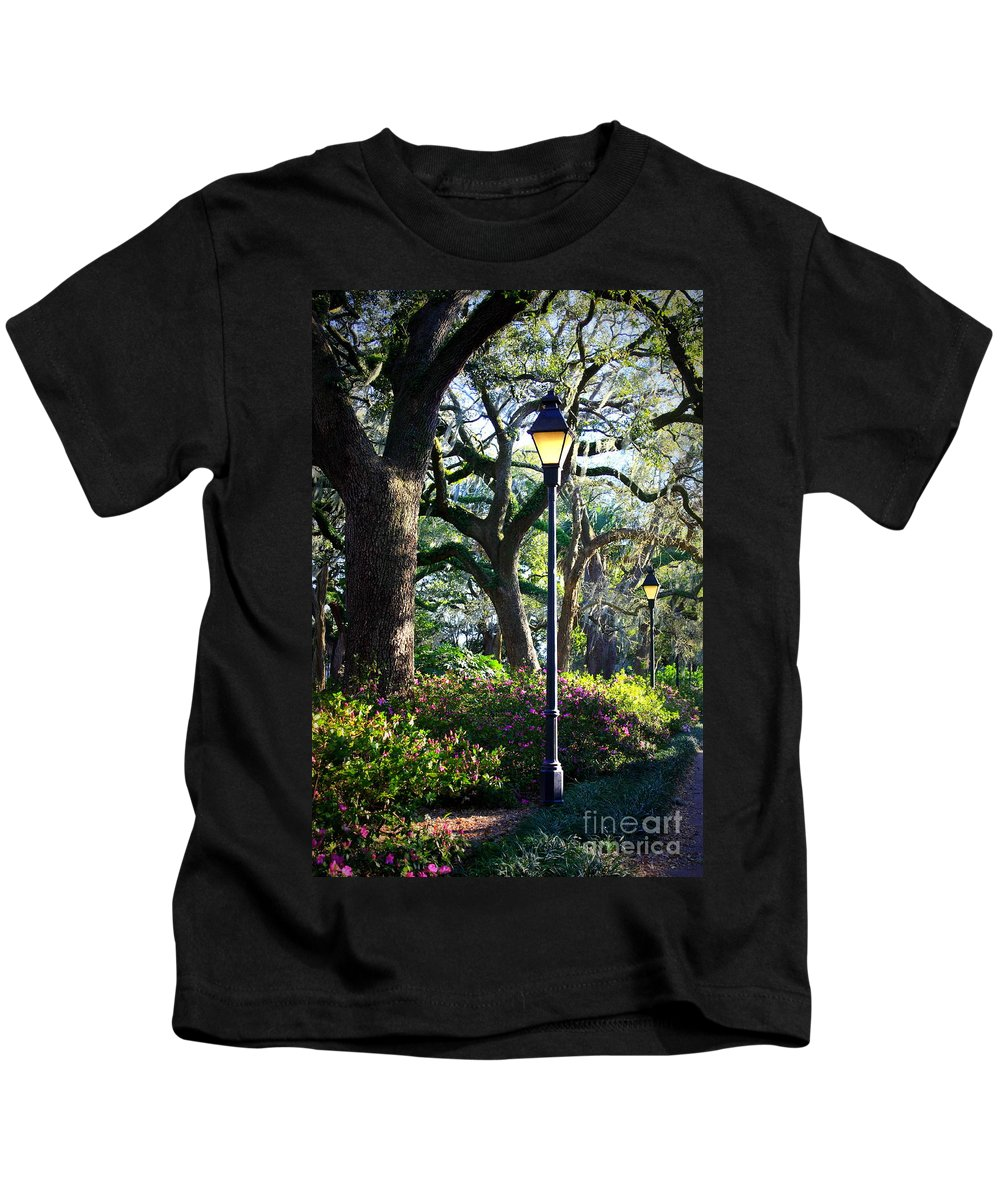 Savannah Kids T-Shirt featuring the photograph Savannah Spring Perspective by Carol Groenen