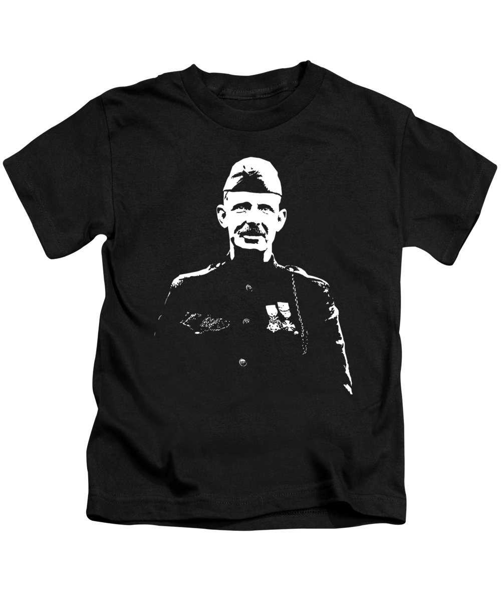 Sergeant York Kids T-Shirt featuring the mixed media Sergeant Alvin York Graphic by War Is Hell Store