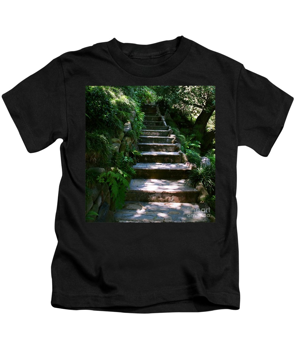 Nature Kids T-Shirt featuring the photograph Stone Steps by Dean Triolo
