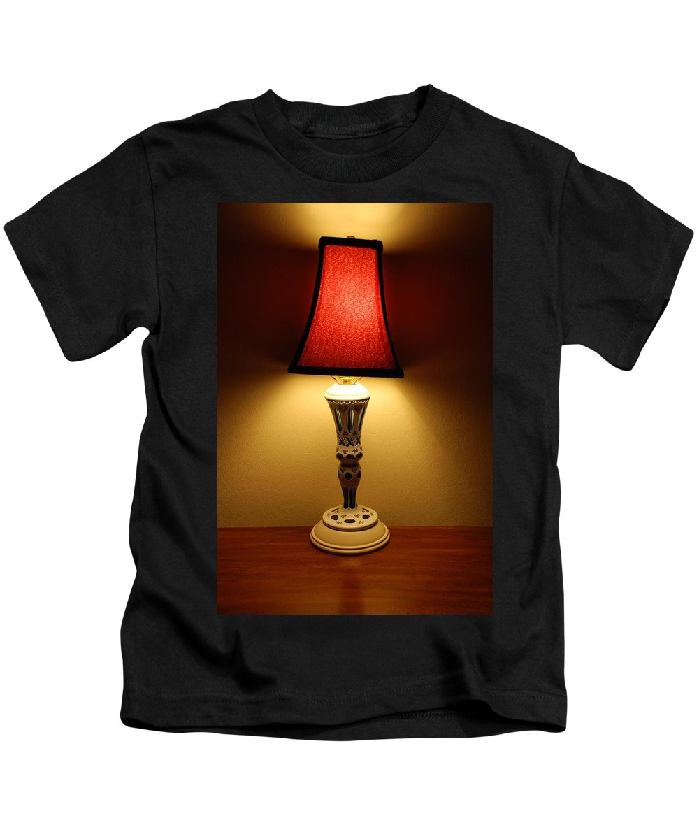 Lights Kids T-Shirt featuring the photograph The Lamp by Rob Hans