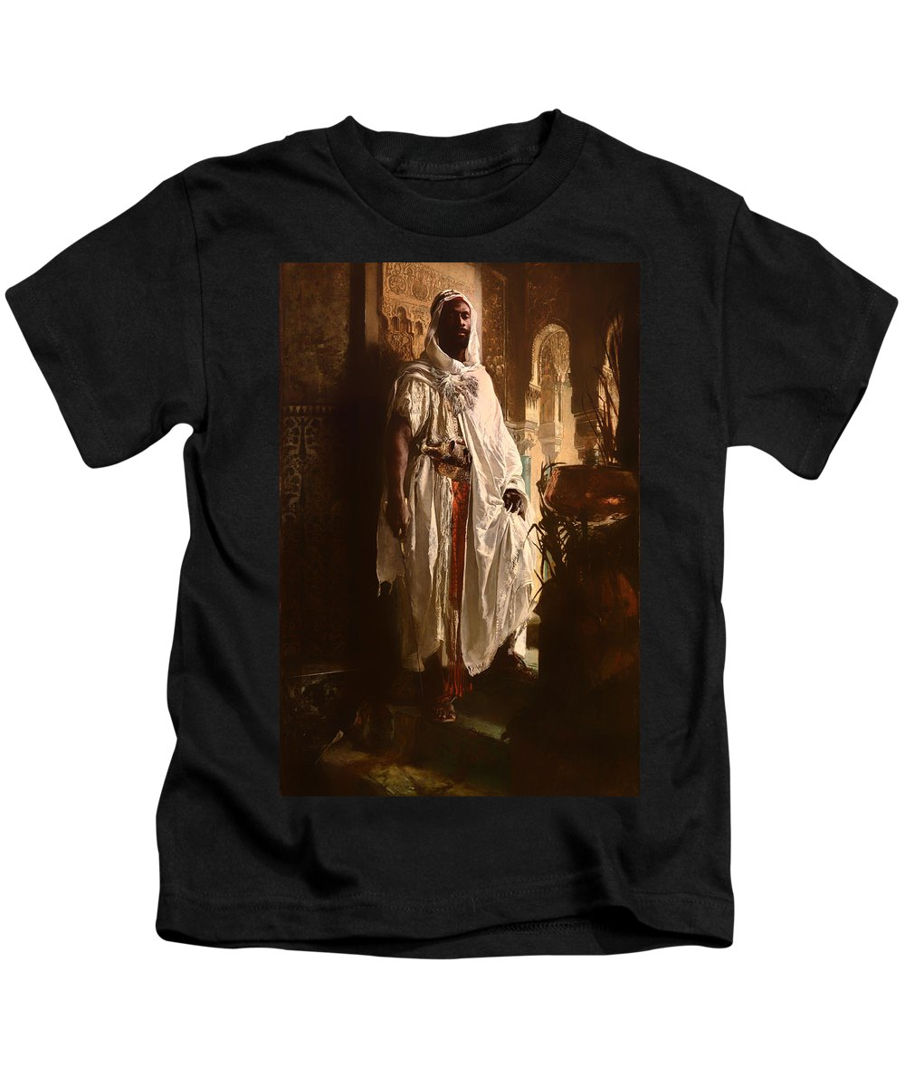 Painting Kids T-Shirt featuring the painting The Moorish Chief by Mountain Dreams