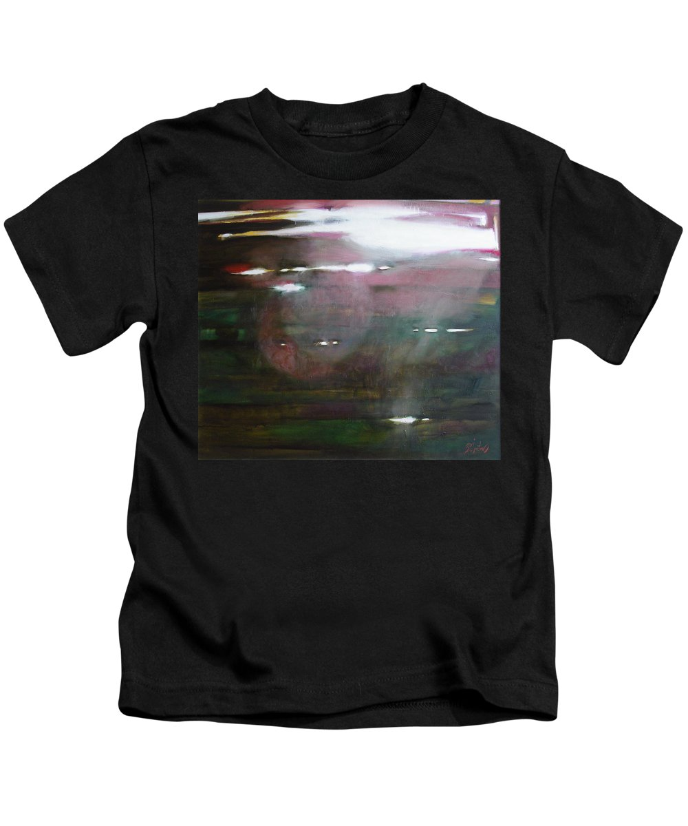 Oil Kids T-Shirt featuring the painting The Parallel World by Sergey Ignatenko