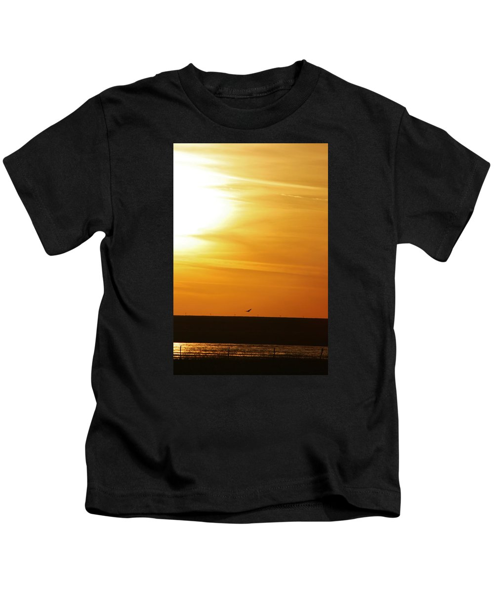 Landscape Kids T-Shirt featuring the photograph West Texas Sunset by Val Conrad