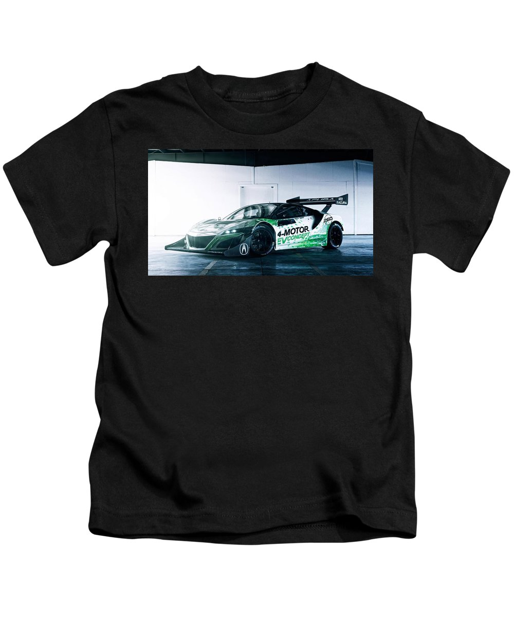 Acura Nsx Ev Concept 1 Kids T-Shirt featuring the digital art 2016 Acura Nsx Ev Concept 1 by Anne Pool