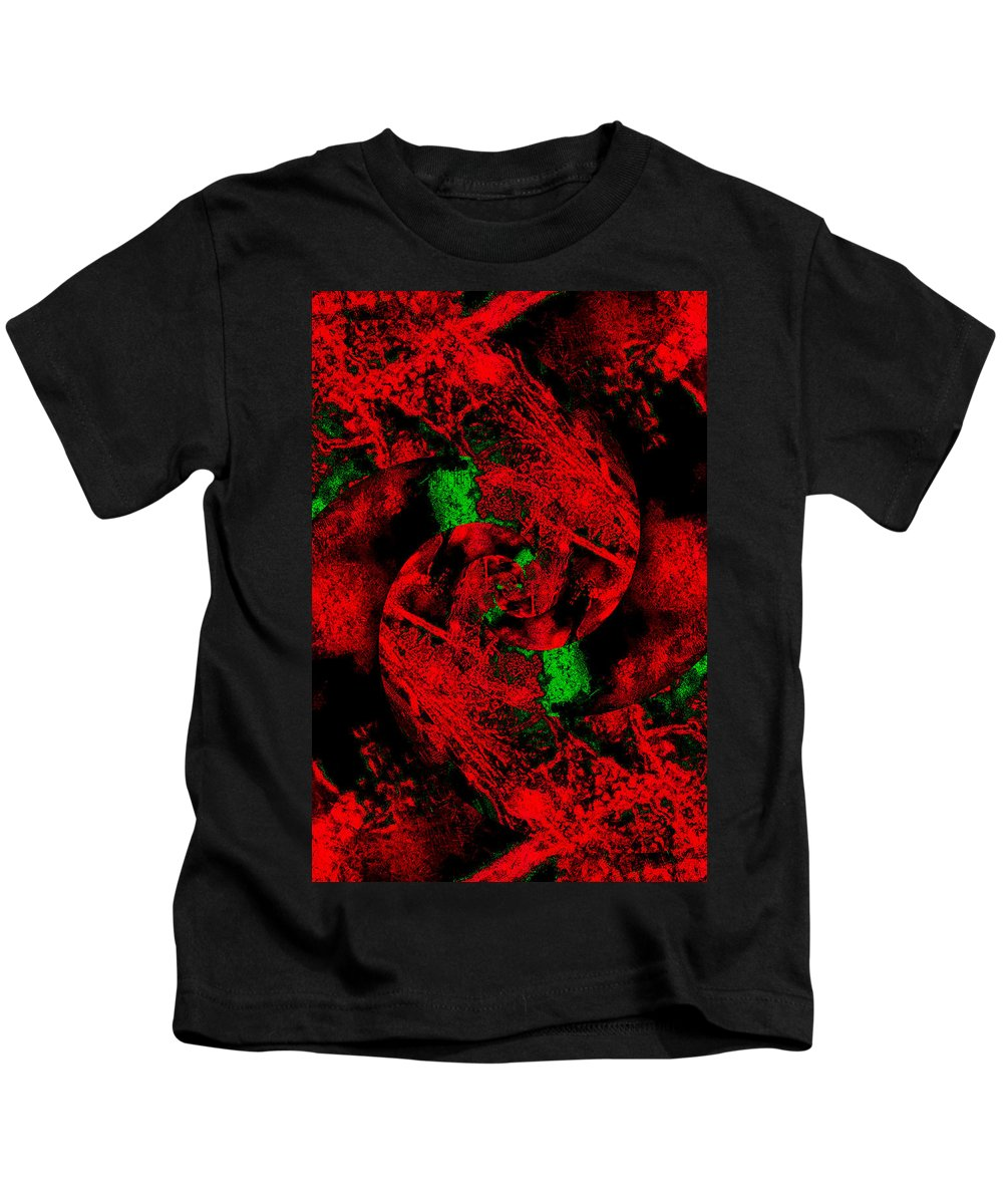 Abstract Kids T-Shirt featuring the digital art Abstract by Galeria Trompiz