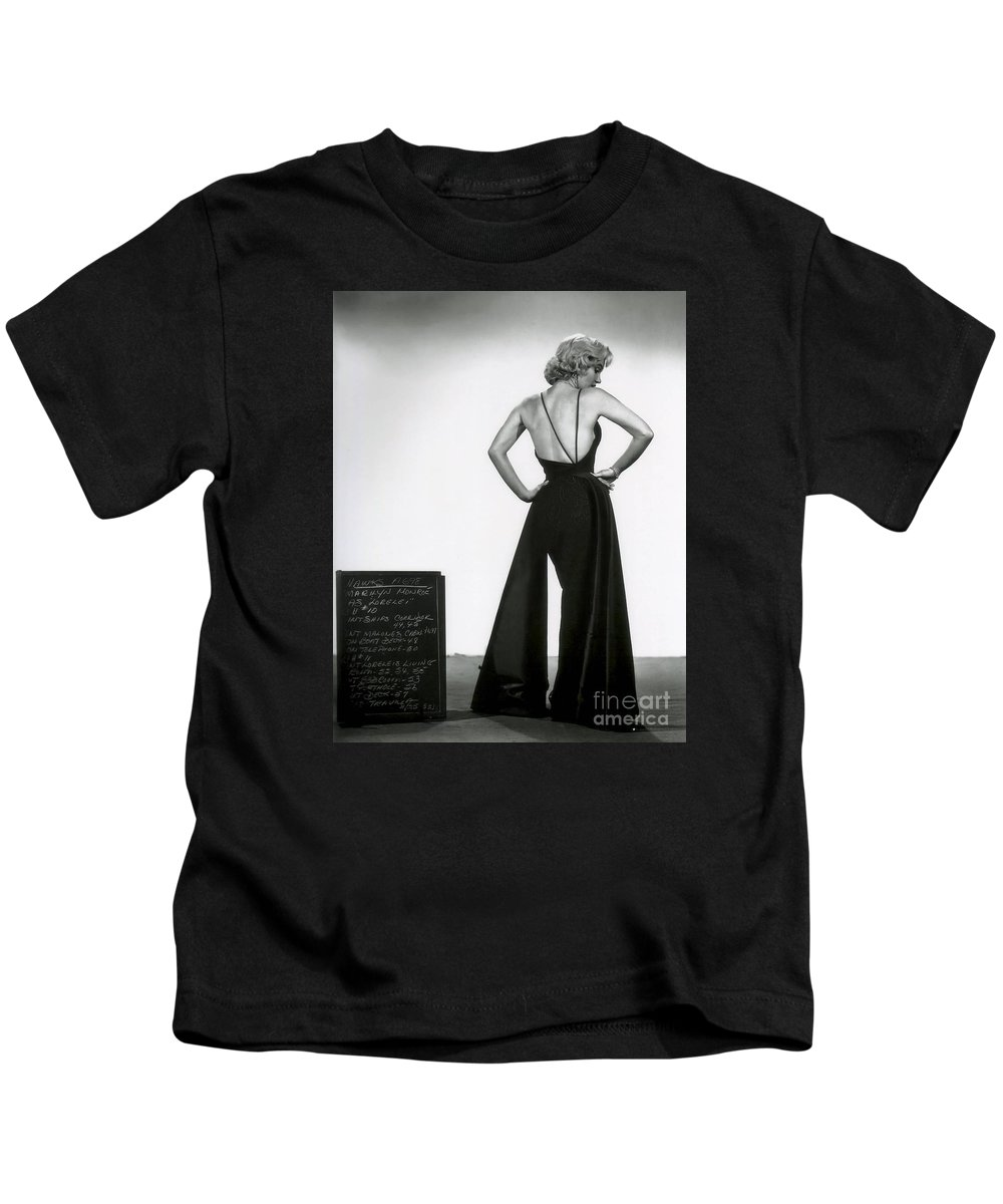 Kids T-Shirt featuring the photograph Marilyn Monroe by Marilyn Monroe
