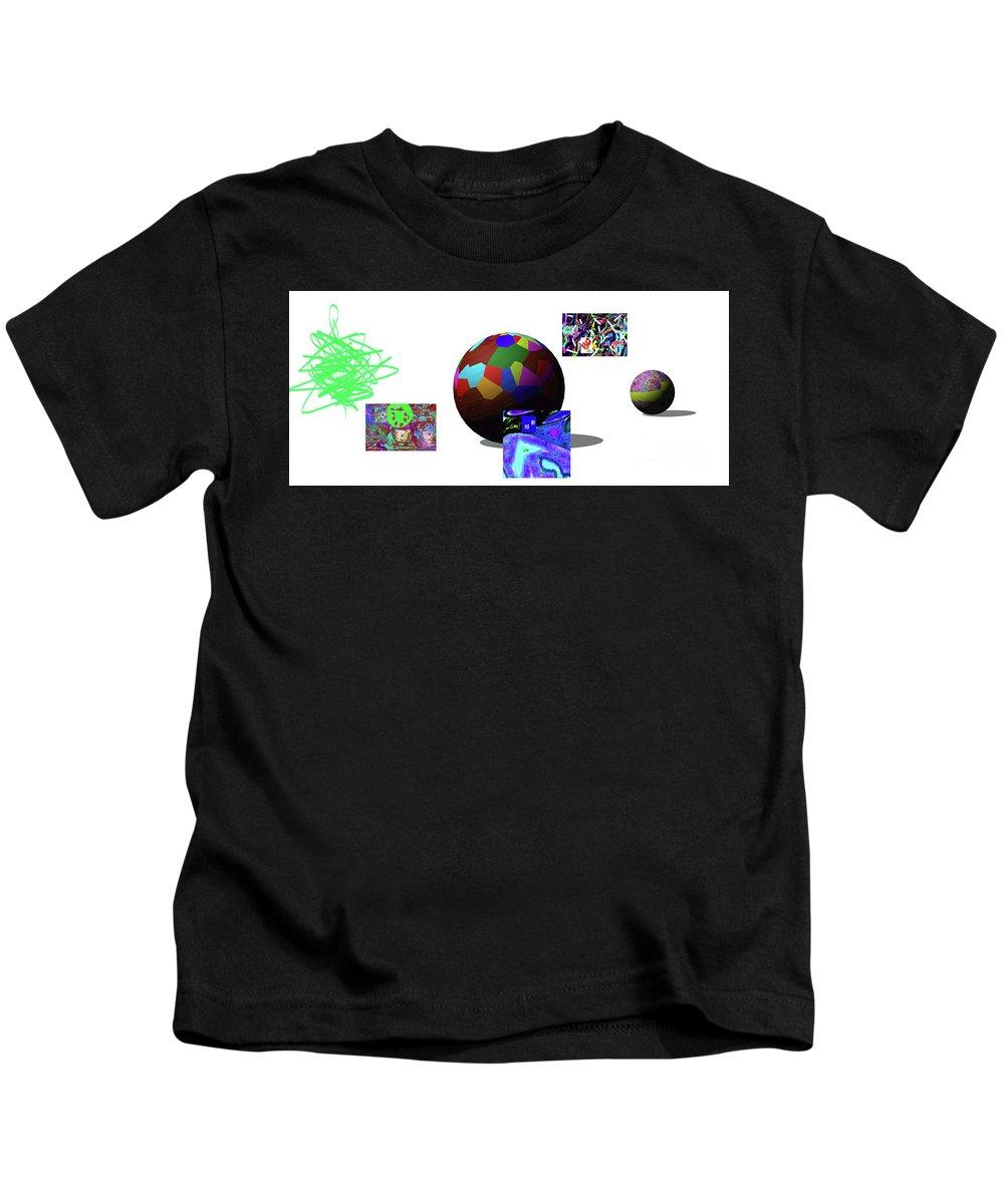 Walter Paul Bebirian Kids T-Shirt featuring the digital art 3-23-2015dabcdefghijklmno by Walter Paul Bebirian