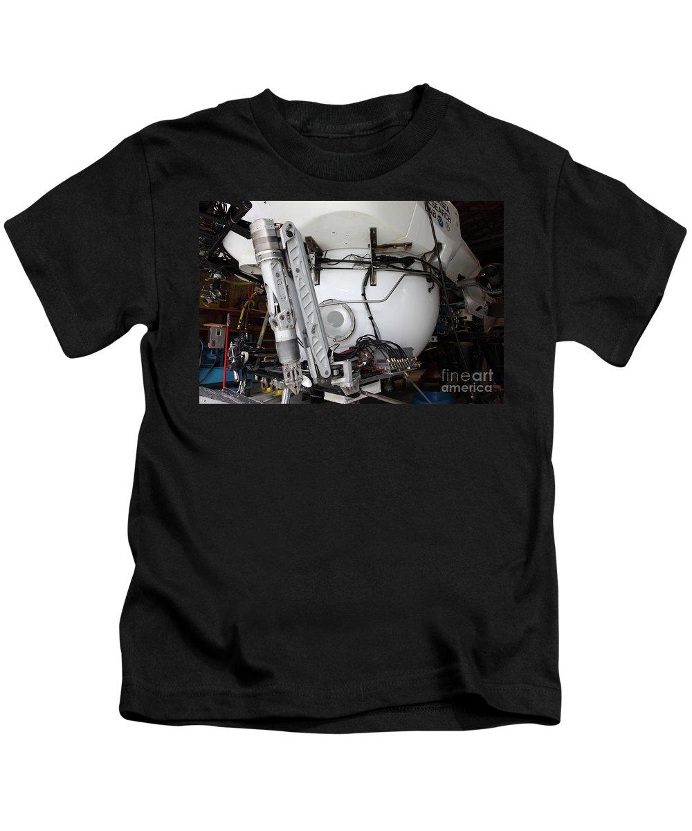 Sub Kids T-Shirt featuring the photograph Deep Sea Submarine by Ted Kinsman