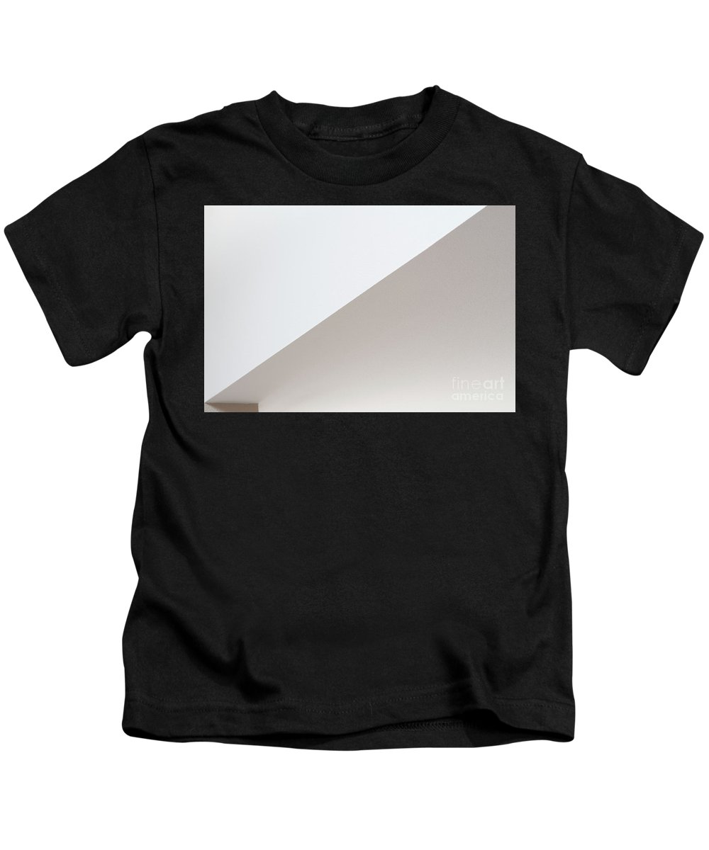 Abstract Kids T-Shirt featuring the photograph Geometric Shapes With Light And Shadow 3 by Jim Corwin