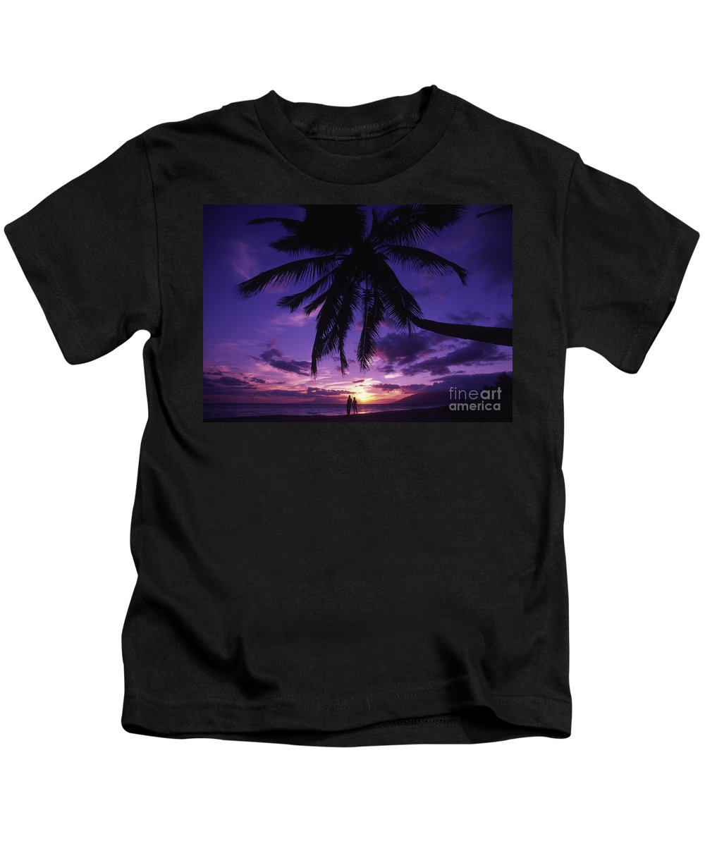 Beach Kids T-Shirt featuring the photograph Palm Over The Beach by Ron Dahlquist - Printscapes