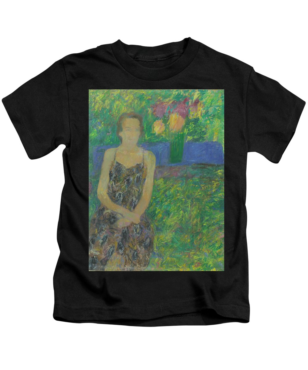 Park Kids T-Shirt featuring the painting Portrait by Robert Nizamov