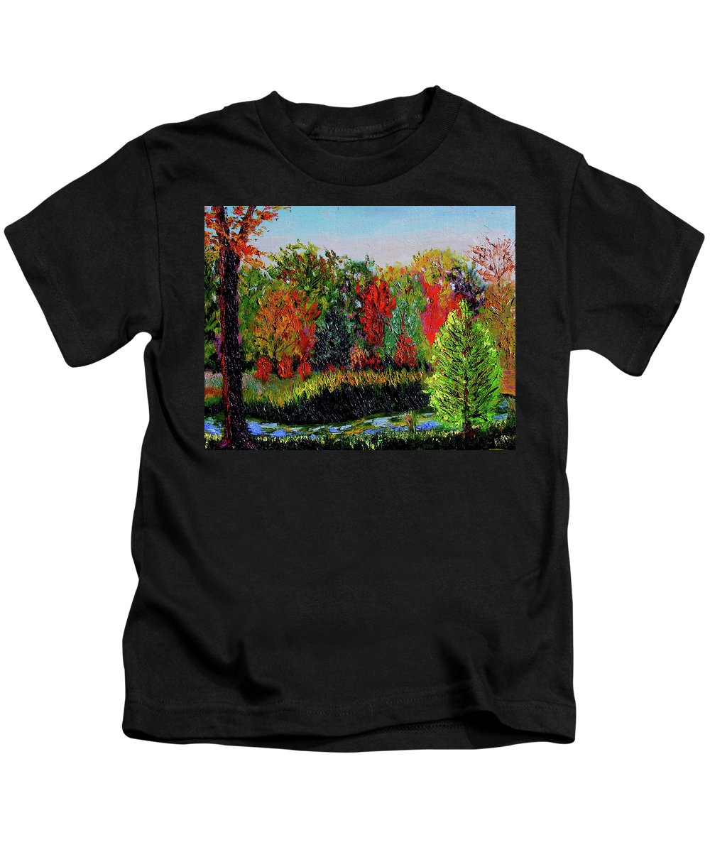 Plein Air Kids T-Shirt featuring the painting Sewp 10 10 by Stan Hamilton