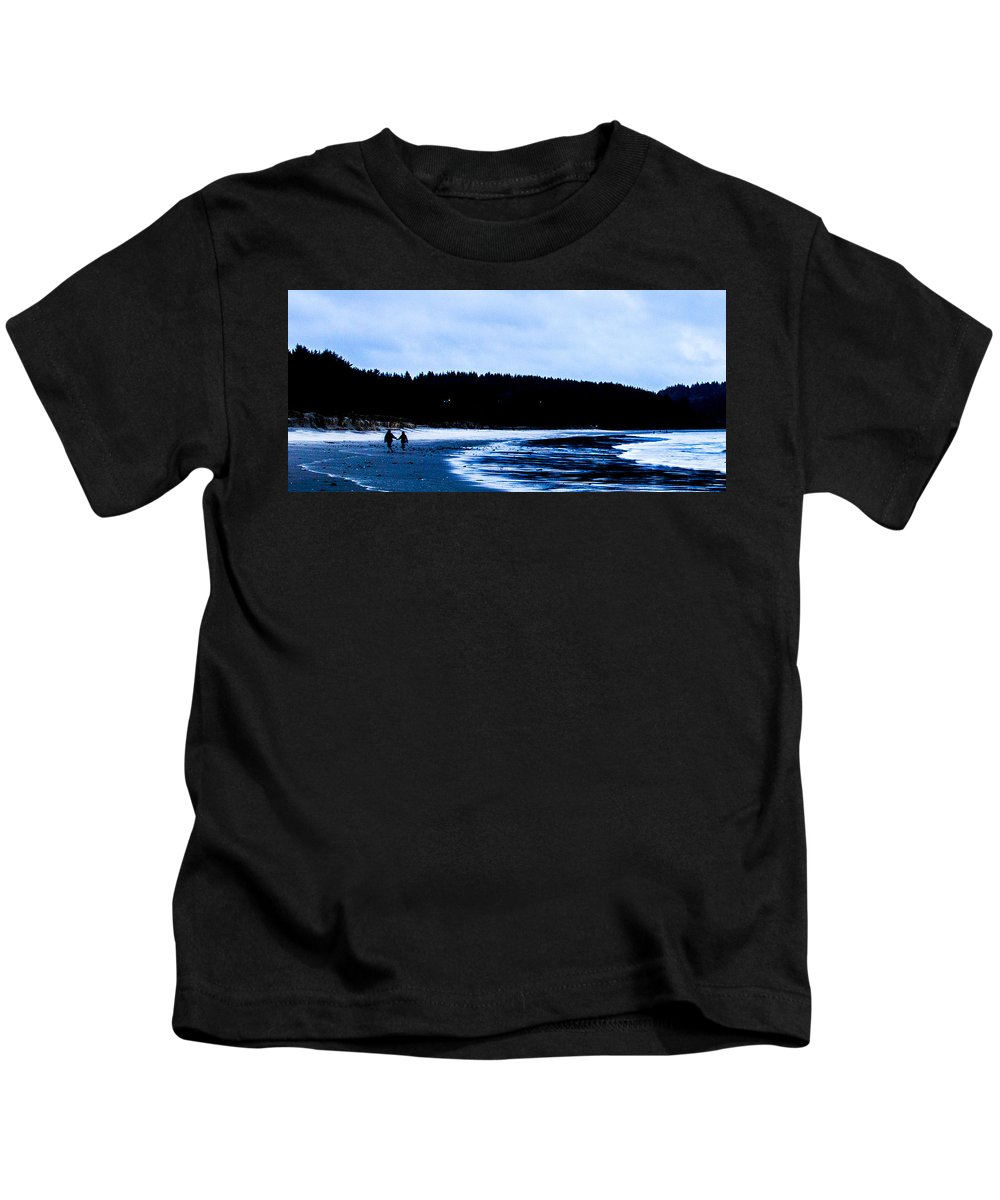 Kids T-Shirt featuring the photograph Windy Day Bastendorff by Angus Hooper Iii